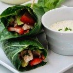Collard Wraps with Spiced Aioli Dipping Sauce